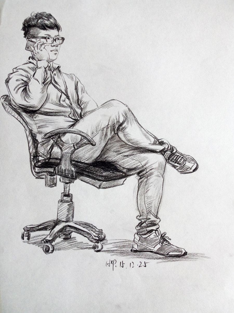 【黄晓萍】速写作品欣赏