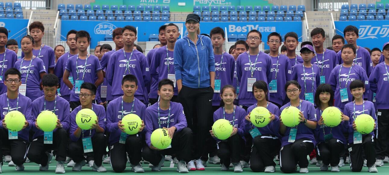 Sharapova and Ball Kids