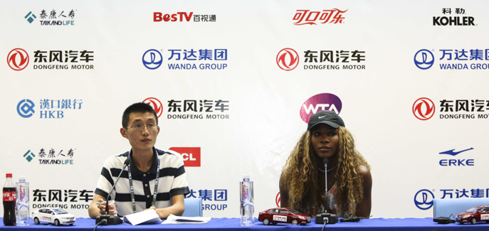 Serena Williams attends press conference