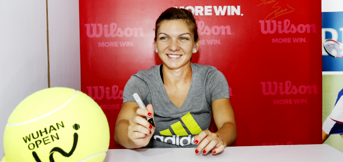 Simona Halep attends autograph session