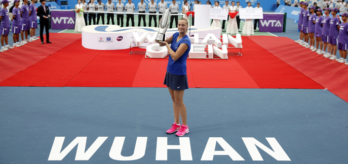 KVITOVA SERVES UP WUHAN TITLE