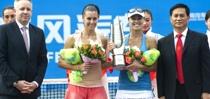 Hingis& Pennetta won the doubles champion